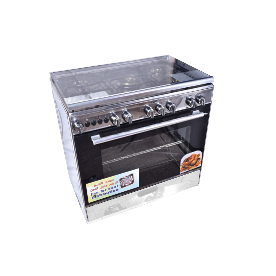 TECNOGAS Oven 5 Burners 80*50 Stainless Steel