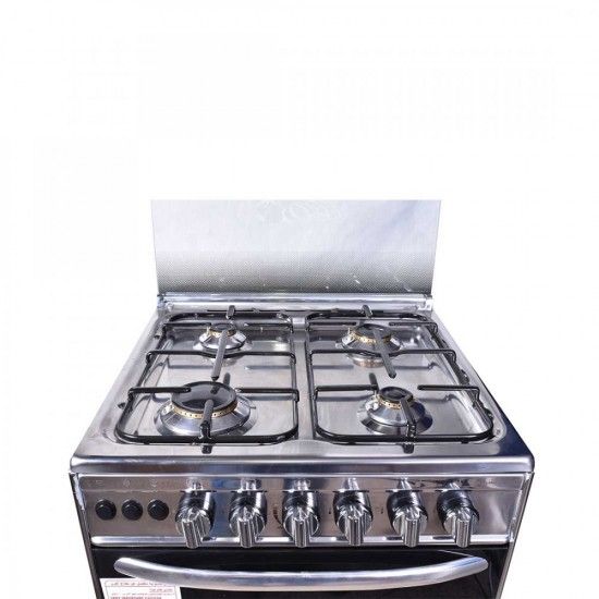 TECNOGAS Oven 4 Burners 55*55 Stainless Steel CH1-55FS