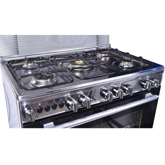 TECNOGAS Oven 5 Burners 90*60 Stainless Steel CH1-96FS